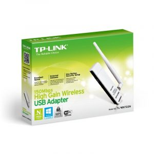 ADAPTADOR DE RED WIFI TP-LINK - 150MBPS - ANTENA 4DBI - USB 2.0